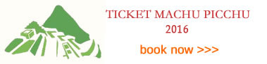 2016 Ticket Machu Picchu