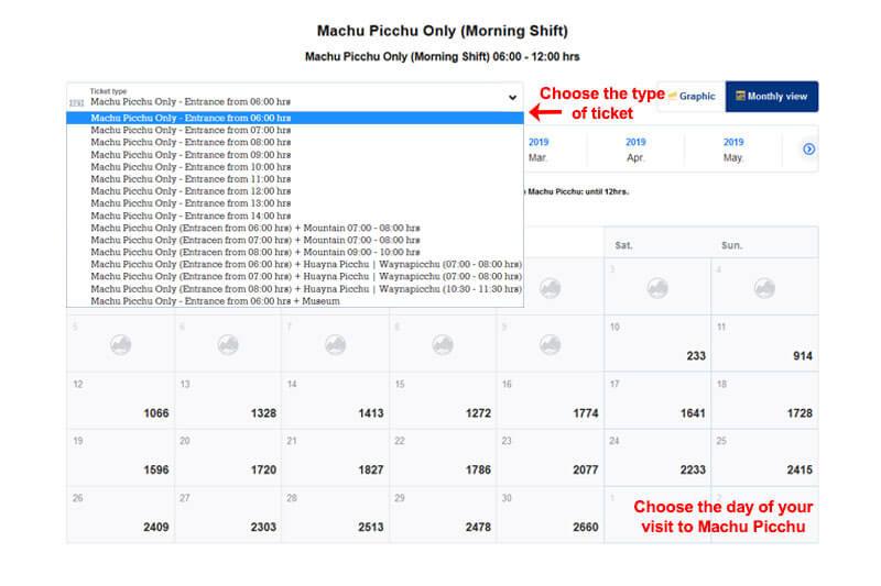 Machu Picchu ticket availability