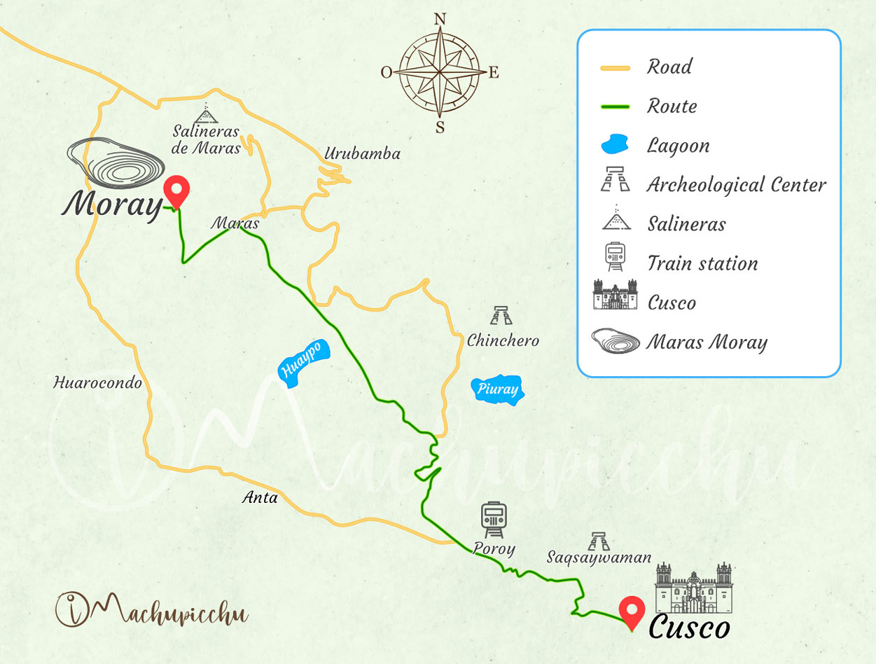 Map to get to Moray