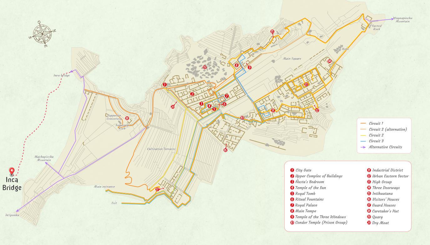 Map bridge inca