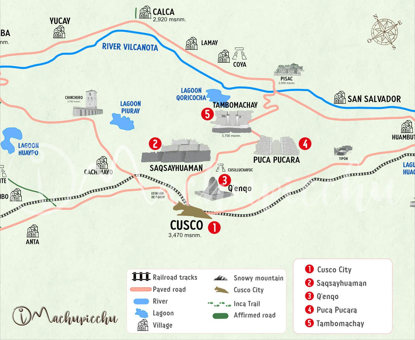 Circuit archaeological sites Cusco