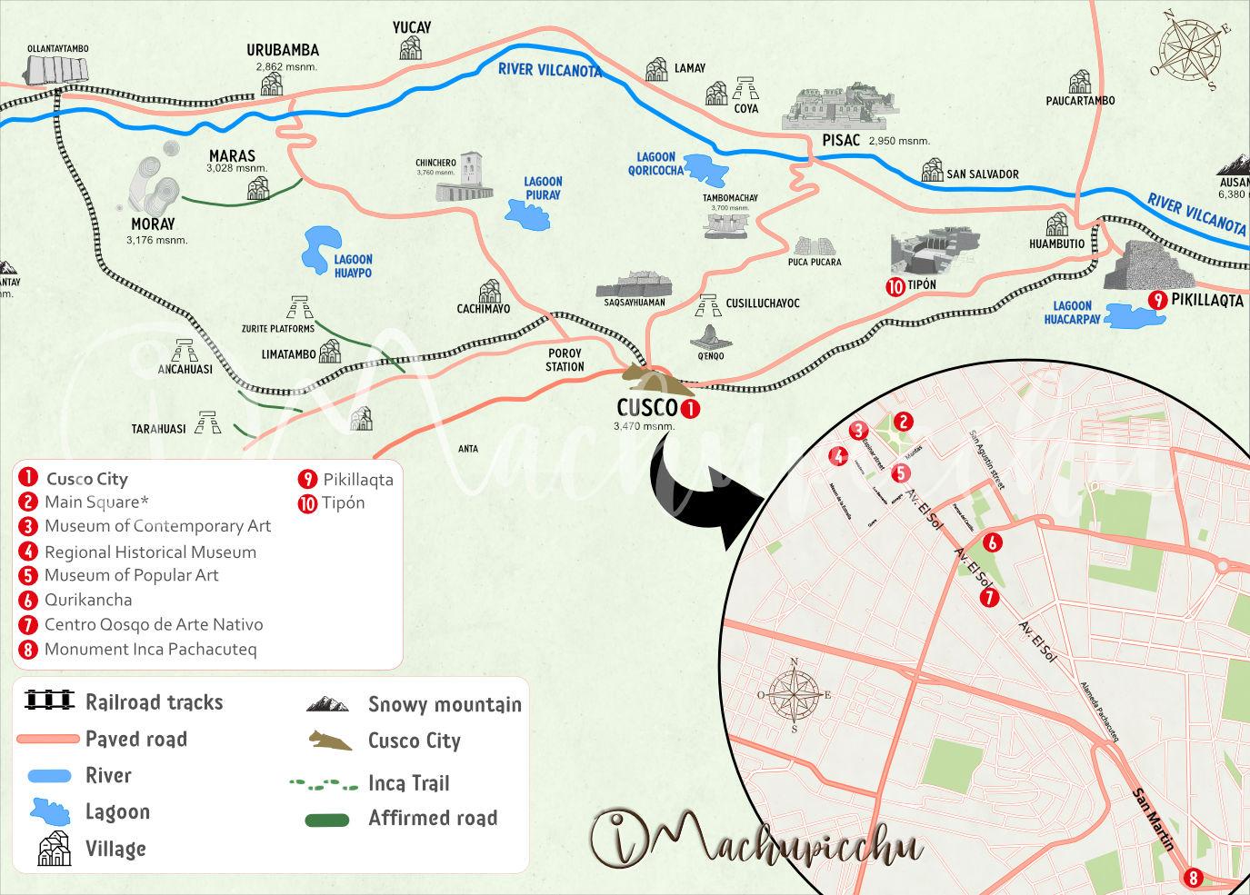 Map Integral Ticket Cusco 2